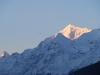 berg in morgensonne